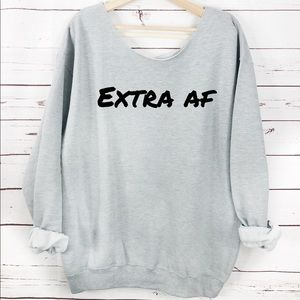 NEW Extra AF Womens Sweater, Warm sweater, slouchy